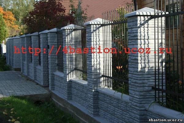 Декоративные бетонные заборы СКАЛА