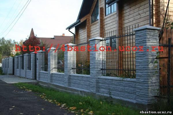бетонный забор СКАЛА