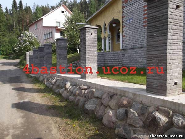 забор бетонный