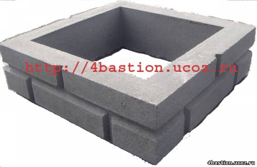 Блок столба БС Кирпич 375х375х115