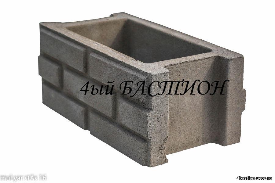 Блок забора БЗ Кирпич