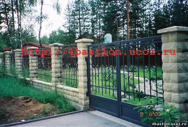 производство декоративных бетонных заборов